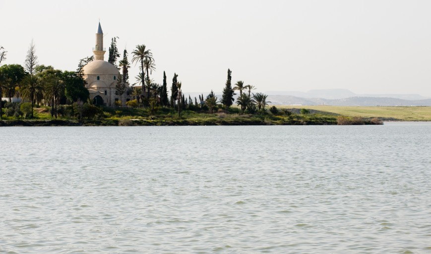 Larnaca-Salt-Lake-and-Hala-Sultan-Tekke-mosque-lighter