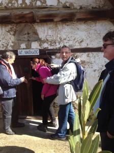 Despina opens door St Nicholas