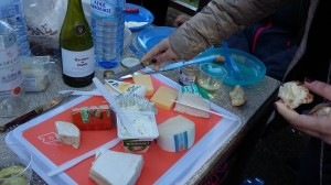 One aspect of a very gourmet picnic; Patricia's contribution