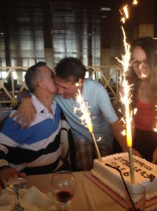 Xenophon-thanking-Gerard-for-birthday-cake